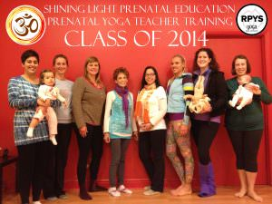 Prenatal Yoga teacher trainees, Pittsburgh, Shining Light