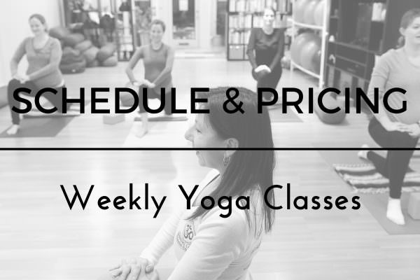 Yoga Pricing and Schedule